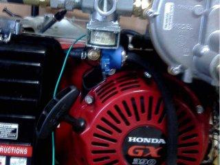 honda gx390 газовый и бензиновый клапаны