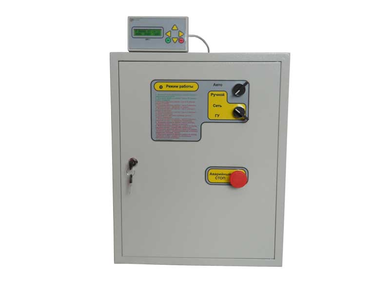 Блок управления электрогенератором БУЭ-Basic, автоматика АВР, автозапуск для генератора и БИП-1